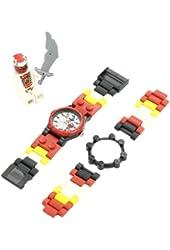 LEGO Kids' 9004919 Ninjago Snappa Plastic Watch with Link Bracelet and Figurine
