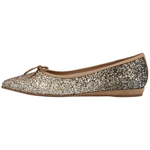 Zapatos Zapatos HUMAT Marca para 4 Bailarina Gold Miriam para Mujer Modelo Bailarina Gold Gold HUMAT Color Mujer 4SARrwq4