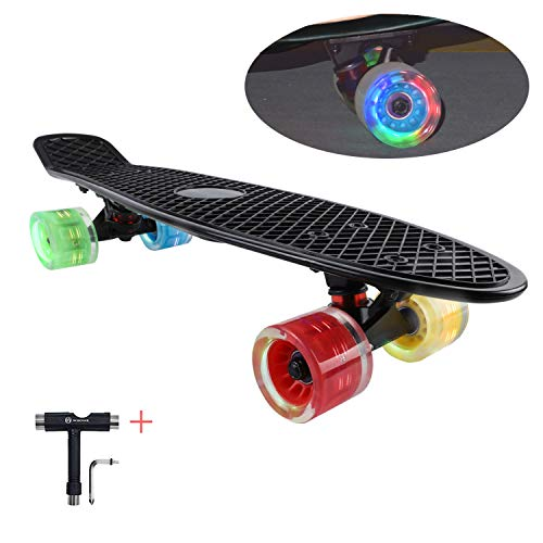 Generation Led - WHOME Skateboards for Kids with 60x45mm LED Light Wheel - 22