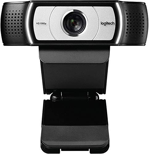 Computer Webcam C930e HD 4X Zoom 1080p Streaming Widescreen Video Camera Built in 2 Omni Directional