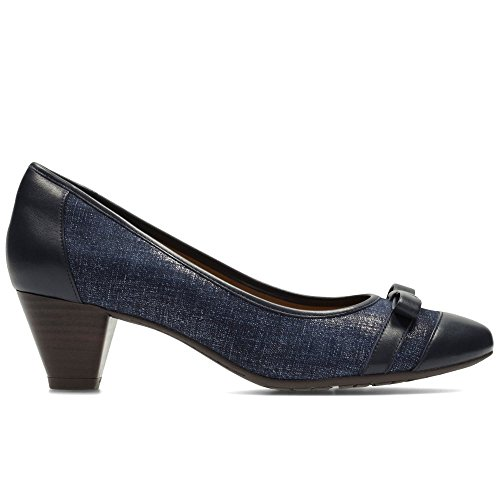 CLARKS Clarks Womens Shoes Denny Fete Navy 6.0