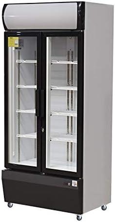 BDP - Armario refrigerado con 2 puertas de cristal, 580 L: Amazon ...
