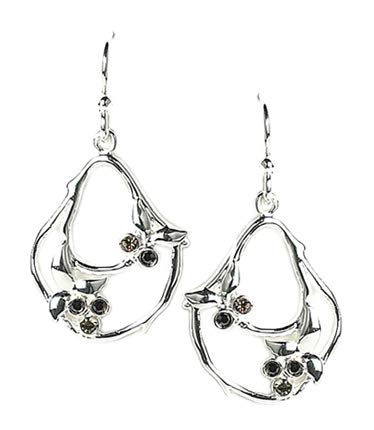 f90bd3062 Amazon.com: JODY COYOTE Earrings Silver Bramble Collection BR-0311-02  Genuine Austian Crystal 976: Jewelry
