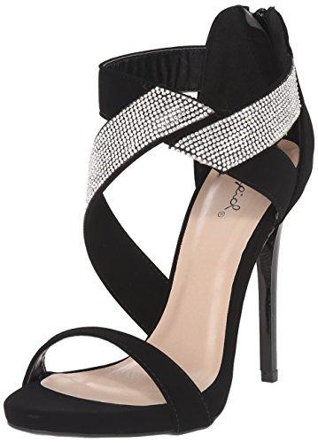 Robe Sandale Volontiers 15 15 Qupid De Femmes Robe Volontiers Noire Sandale WwZpxYFqcH