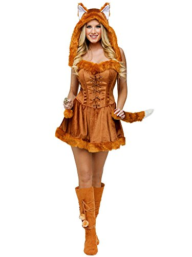 Fun World Women's Foxy Lady Costume, Brown, Medium/Large