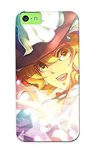 Awesome DLssw0hYtFw QueenVictory Defender Tpu Hard Case Cover For Iphone 5c- Blondes Closeup Witch Touhou Multicolor Stars Happy Sparkles Magic Kirisame Ma