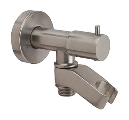 Jaclo 6466-SN Water Supply Elbow with On/Off Valve and Holder, Satin Nickel (Elbow Jaclo Water Supply)