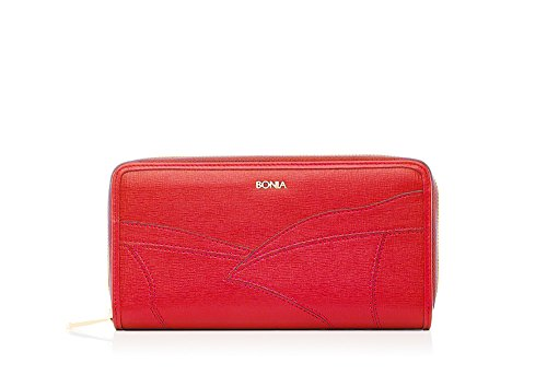bonia-womens-red-grand-canal-zip-top-purse