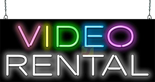 Video Rental Neon Sign - Picture Lights - Amazon com