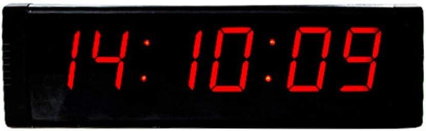 カウントダウン時計 大規模なオフィスの壁時計フィットネストレーニングタイマー屋内デジタルインターバルタイマー時計とリモートコントロールは、多くの場所または場所で自由に使用できます。 スポーツタイミングアクティビティ用 (色 : ブラック, サイズ : 26.3X7.5X2.5CM) ブラック 26.3X7.5X2.5CM