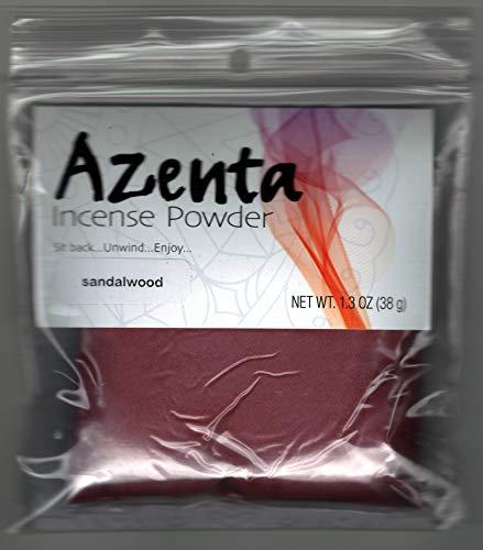 - Azenta Sands Incense Powder ~ Sandalwood ~ 410SA ~ Maroon Powder