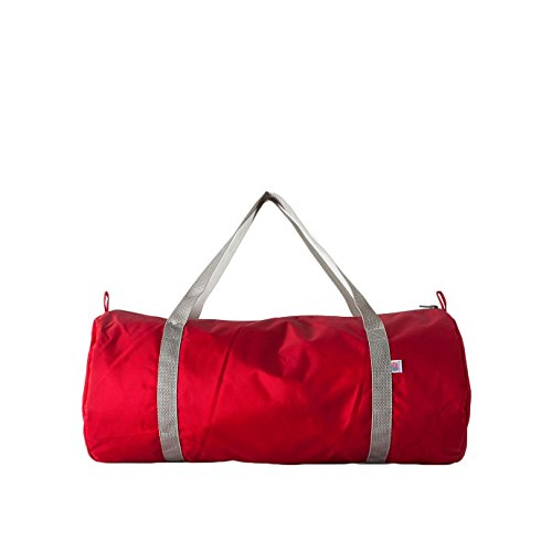 american-apparel-nylon-sports-gym-holdall-bag-one-size-red-silver