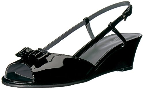 Sandal Patent Leather Women's Black Wedge Milly Trotters CUxzwntqX