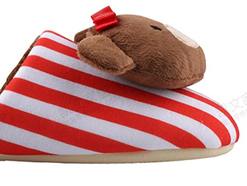 Cattior Red Comfy Indoor Womens Ladies Slippers Cute Slippers Bear 7xr7n84v