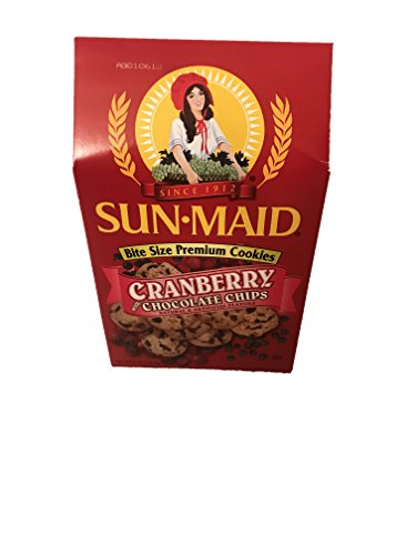 Sun Maid Bite Size Cookies! Blueberry With Greek Yogurt Chips! Cranberry With Chocolate Chips! Oatmeal Raisin Apple! One 8 Oz Box ! Delicious! (Cranberry With Chocolate (Apple Oatmeal Cookies)