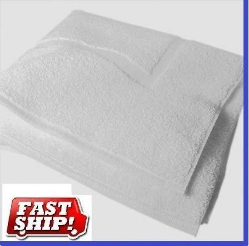 GT 6 New White Cotton Hotel Seville and Home Bath MATS Size 20X30 100% Cotton Blend