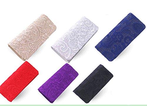 Fashion Mariage pour Ceremonies Pochette Sac Cloud Portefeuille Different Soiree de Y Violet Main choisir couleur Femmes Voile a party Dentelle avec FO5xSqw