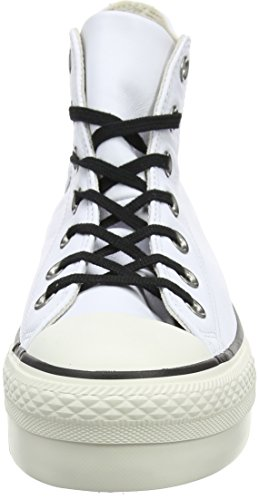 white black Zapatillas Altas Converse Blanco Hi Ctas Mujer white Para BE0wtR8qw