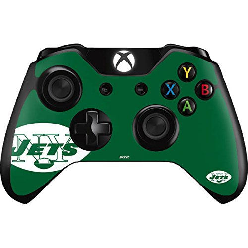 (Skinit New York Jets Retro Logo Xbox One Controller Skin - Officially Licensed NFL Gaming Decal - Ultra Thin, Lightweight Vinyl Decal Protection )