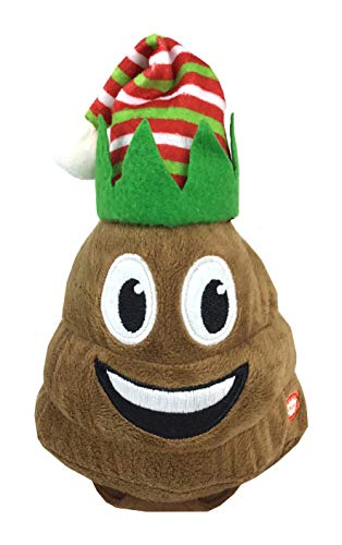 Animated Poop Christmas Plush Toy Dances Plays Jingle Bells (Elf Poop)
