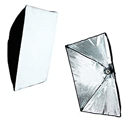 LimoStudio Photography Photo Studio Foldable Shooting Table Background with 2 pcs Soft box Lighting Set