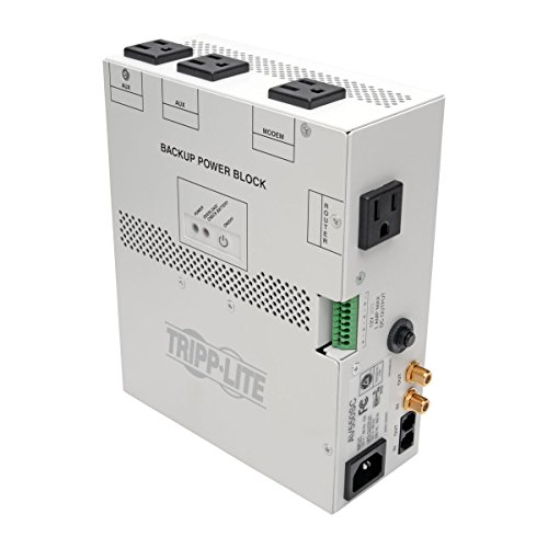 Tripp Lite 550VA Audio/Video Backup Power Block UPS - Exclusive UPS Protection for Structured Wiring Enclosure (AV550SC)