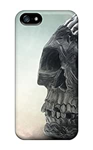 Hot Style INgAM3431XMqLV Protective Case Cover For Iphone5/5s(skull With Brain)