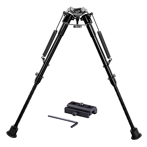 Twod Hunting Rifle Bipod - 9 Inch to 13 Inch Adjustable Super Duty Tactical Rifle Bipod + Rail Mount Adapter