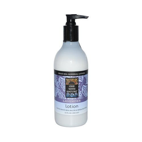 One With Nature Dead Sea Mineral Restorative Hand and Body Lotion Lavender, 12 Fluid ()