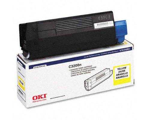 OkiData C3100 Yellow Toner Cartridge (OEM) 1,500 Pages