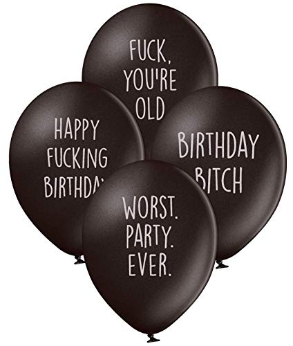 Abusive Birthday Balloons - Pack of 12 Different Funny Offensive Balloons (for Her)]()