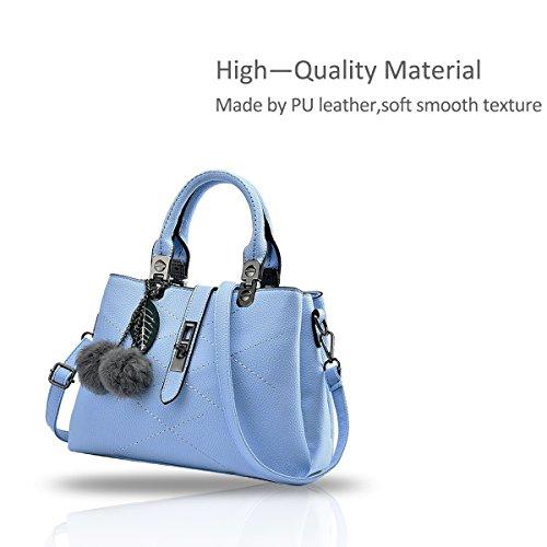 NICOLE&DORIS nuevo paquete de ondas de mensajero del bolso del bolso de las señoras bolsos del bolso de las mujeres para las mujeres(Pink) Azur