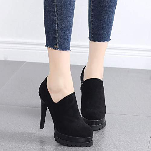 thin Joker high nine Thirty shoes waterproof 11cm high super fashionable heel heel LBTSQ Single heel shoes platform q4HAA8