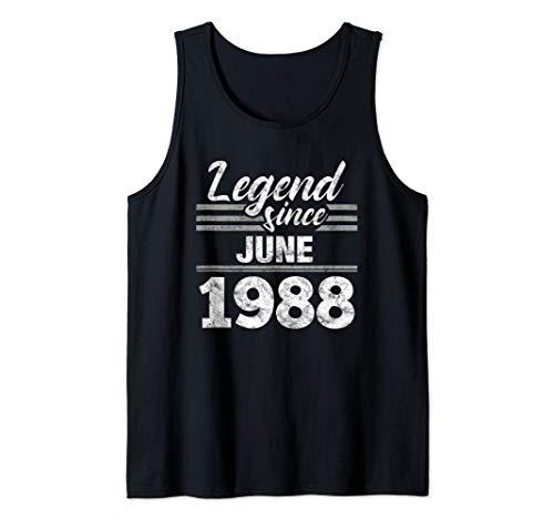 31st Birthday Gift Legend Since June 1988 Tank Top