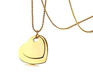 flat watches free white necklace fremada heart product gold link toggle jewelry