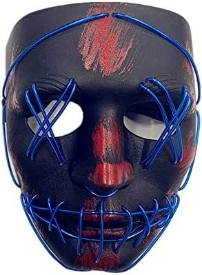 41AihPOavQL. AC  - ASON Halloween Scary Mask Cosplay Led Costume Mask