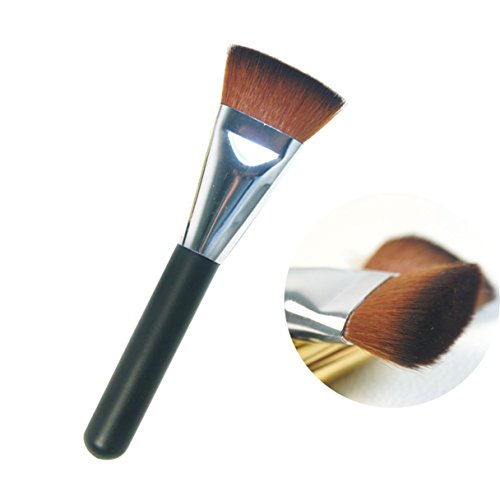 1 Pcs Makeup Brush Set Flat Contour Eyebrow Make Up Tools Professional Natural Beauty Palettes Eyeshadow Essential Popular Eyes Face Colorful Rainbow Hair Highlights Glitter Teens Travel Kit, Type-01 by GrandSao