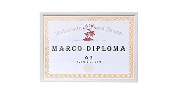 solagua Marco Fotos Madera portafotos Vintage Marcos Fotos Decoraci/ón Diploma A3, Beige