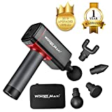 Massage Gun with Carrying Case, Professional Deep Tissue Massager for Athletes with 4 Speed Strength Levels for Muscle Soreness Relieves (Black)