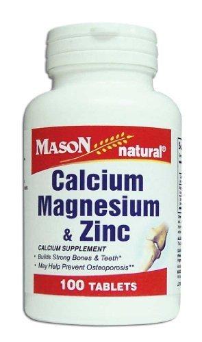 Mason Natural Magnesium - 3 Pack Special of MASON NATURAL CALCIUM & MAGNESIUM & ZINC TABLETS 100 per bottle