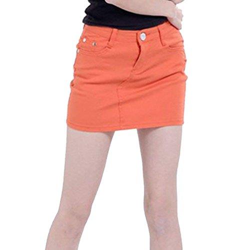 Tailles Mini Orange Femmes XL lastique Jupe Denim Jupe Courtes Moulante S junkai t pour Crayon Jeans Jupes Automne tgTwxqWUa6