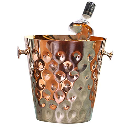 Socean Cooler - Beer beverage refrigerated stainless steel bucket, 2L capacity, double handle with pole/restaurant/outdoor picnic.