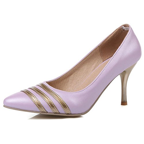 Toe Office Pumps Stieltto Wedding Pointed LongFengMa Party Shoes Shoes Purple Kitten Heels Dress Women g4T6xqnY