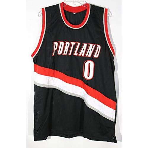 9241e8c96 new Damian Lillard Portland Trail Blazers Signed Autographed Custom Black  #0 Jersey PAAS COA