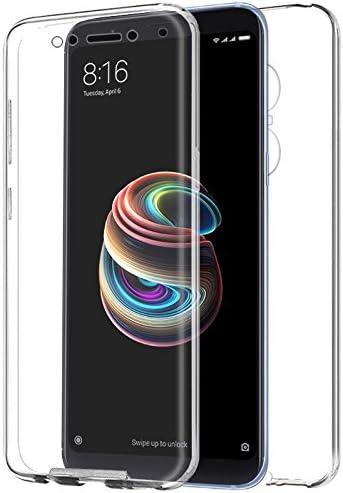 iGlobalmarket Funda para Xiaomi Redmi 5 Plus - Carcasa Completa [360] de [Silicona] para móvil - (Transparente Frontal + Trasera)