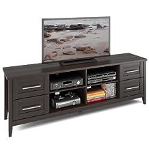 CorLiving TJK-682-B Jackson Extra Wide TV Bench in Espresso Finish
