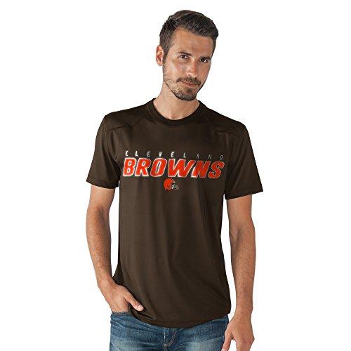 G-III Sports NFL Cleveland Browns Men's Official Short Sleeve Top, Brown, Medium ()