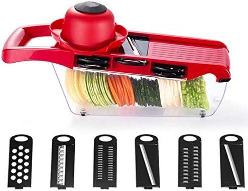 Saikogoods WNL-QCQ手動野菜カッター多機能スライサーニンジンおろし金ポテトカッターフルーツ野菜ツールキッチンアクセサリー 赤
