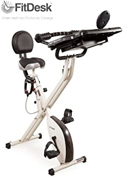 FitDesk Pedal Desk 2.0 Exercise Bike w/Massage Bar
