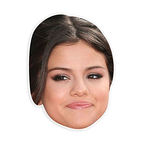 Unwelcome Greetings Silly Selena Gomez Mask - Perfect for Halloween, Masquerade, Parties, Events, Festivals, Concerts - Jumbo Size -